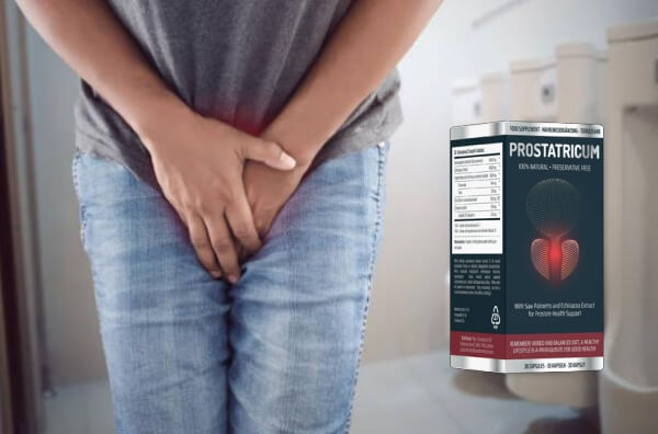 Prostatricum, homem, banheiro