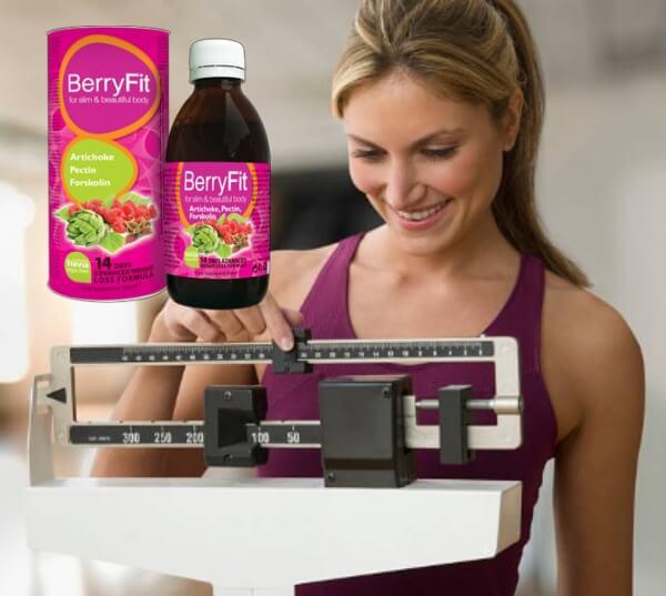 BerryFit emagrecimento, mulher escala de peso