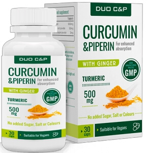 Duo C&P Curcumin Piperin cápsulas Portugal