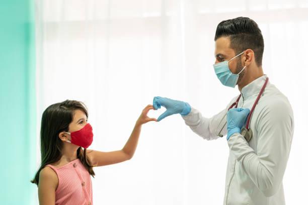 criança, doutor, coração